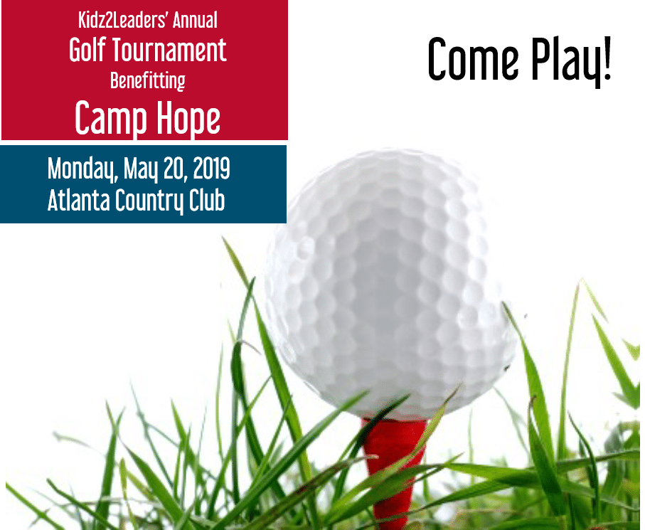 Kidz2Leaders' Annual Golf Tournament benefiting Camp Hope – Register NOW!