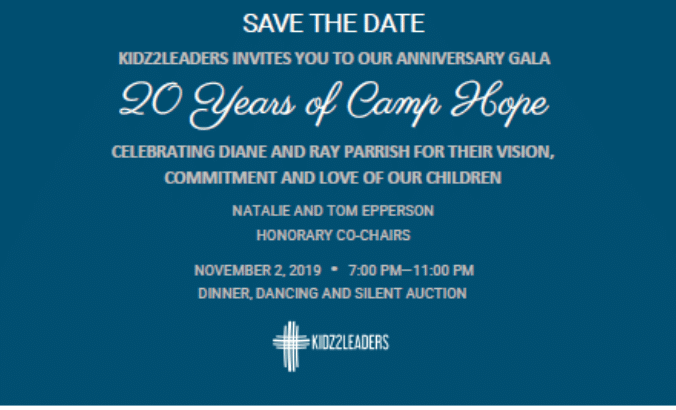 SAVE THE DATE!  Come celebrate 20 Years of Camp Hope!
